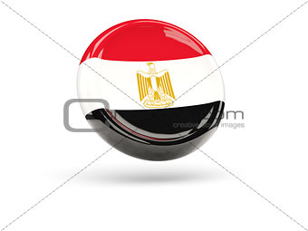Flag of egypt. Round icon