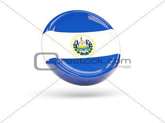 Flag of el salvador. Round icon