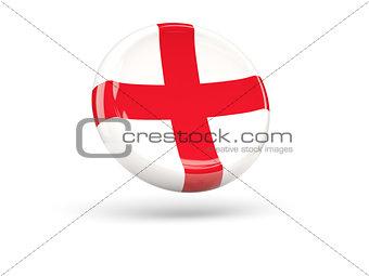 Flag of england. Round icon