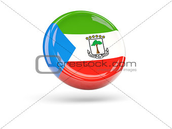 Flag of equatorial guinea. Round icon