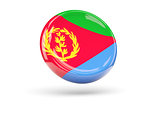 Flag of eritrea. Round icon