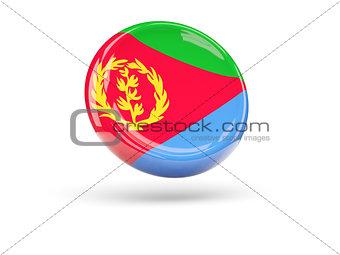 Flag of eritrea. Round icon