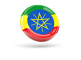 Flag of ethiopia. Round icon