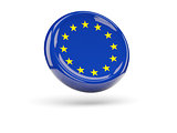 Flag of european union. Round icon