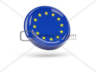 Flag of european union. Round icon