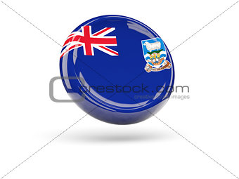 Flag of falkland islands. Round icon
