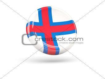 Flag of faroe islands. Round icon