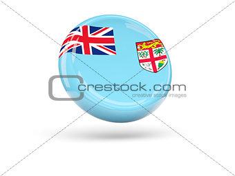 Flag of fiji. Round icon