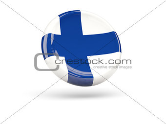 Flag of finland. Round icon