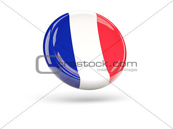 Flag of france. Round icon