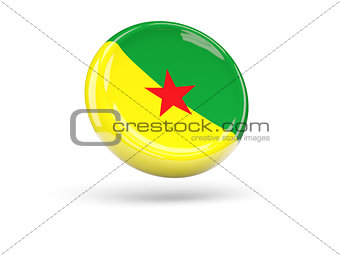 Flag of french guiana. Round icon