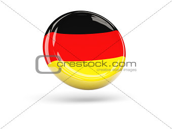 Flag of germany. Round icon
