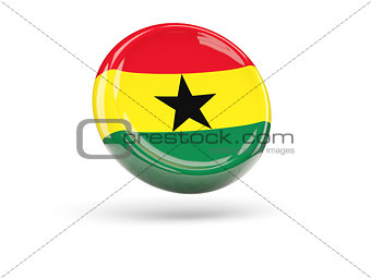 Flag of ghana. Round icon