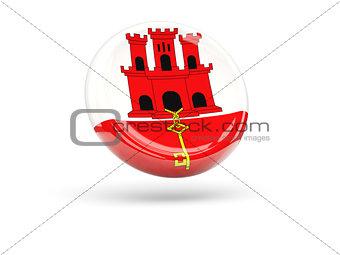 Flag of gibraltar. Round icon