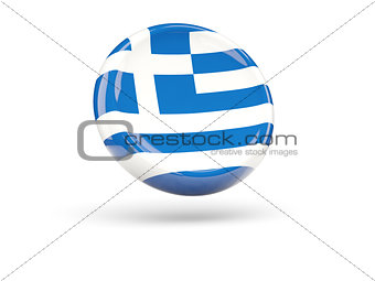 Flag of greece. Round icon