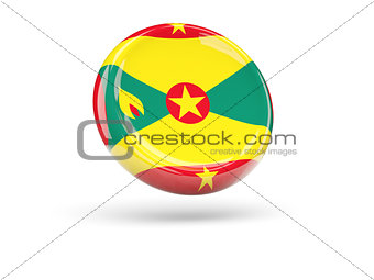 Flag of grenada. Round icon
