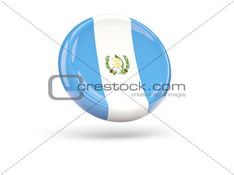 Flag of guatemala. Round icon
