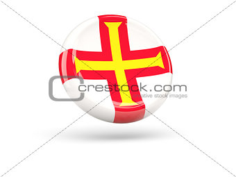 Flag of guernsey. Round icon