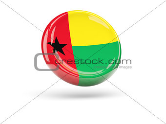 Flag of guinea bissau. Round icon
