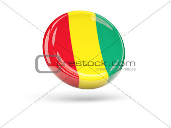 Flag of guinea. Round icon