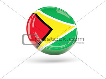 Flag of guyana. Round icon