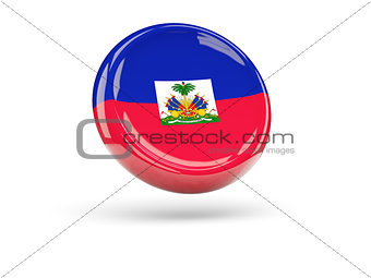 Flag of haiti. Round icon