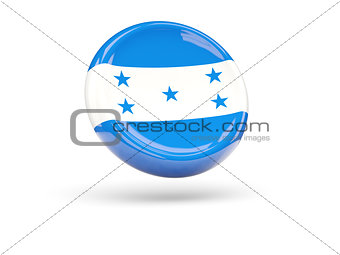 Flag of honduras. Round icon