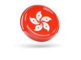 Flag of hong kong. Round icon