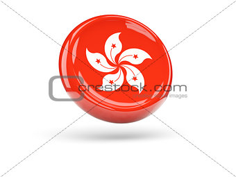 Flag of hong kong. Round icon