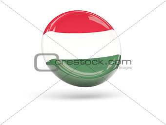 Flag of hungary. Round icon