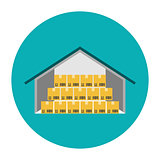 Warehouse flat icon