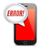Mobile Phone Error Message