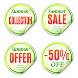 Summer Sale Stickers