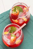Cold strawberry drink