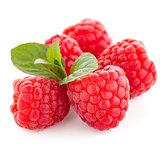 Raspberry fruit isolated