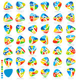 Olympics Icon Pictograms Set 1 Vector Illustration