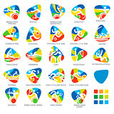 Paralympics Icon Pictograms Set 4 Vector Illustration