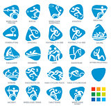 Paralympics Icon Pictograms Set 5 Vector Illustration
