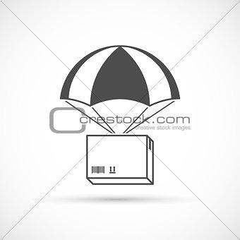 Box on a parachute icon