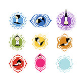 Seven main chakras, sketch foy your design