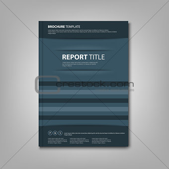 Brochures book or flyer with abstract blue pockets template