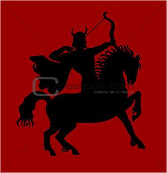 Archer rider horse.