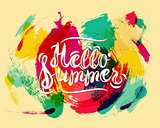 Hello Summer on Spot Background