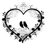 Antique ornament Vectors of heart