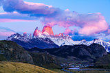 Mount Fitz Roy and El Chalten Village