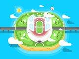 Stadium flat design