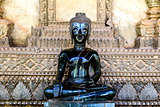 Bronze Buddha statue at the Haw Phra Kaew, Vientiane, Laos.