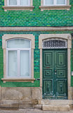 Old house with green tiles in Chaves