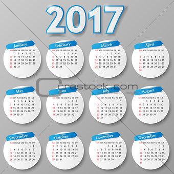Calendar design. Vector illustration.