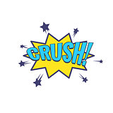 Crush Comic Speech Bubble